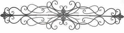 """Florentina Tuscan 43"""" Wrought Iron Scrolling Acanthus Wall Topper Swag"""