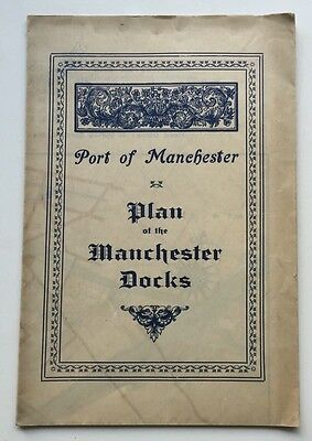 Plan Of The Manchester Docks Port Fold Out Booklet Map c1950s