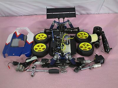 Reely Rex X 1:8 RTR 4WD Verbrenner Buggy RC Auto mit Alu Teile Verbaut