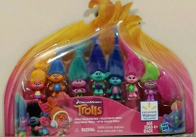 FROM DREAMWORKS TROLLS MOVIE 2016 , 8 Pack of Trolls Collectors Set by Hasbro