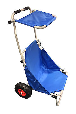 PORTABLE FOLDING BEACH SEAT TROLLEY with SUNSHADE (BTB-001) puncture proof tyres