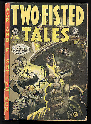 Two-Fisted Tales (1950) #30 1st Print EC Classic Jack Davis Cover Wood Colan GD