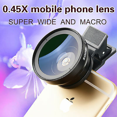 HD 50MM 0.45x Wide Angle Lens 15x Macro Lens For Smart Phone Iphone samsung sony