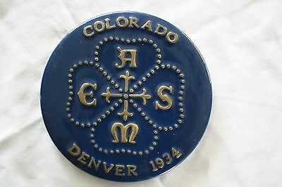 Coors Porcelain Co. Trivet  American Society Mechanical Engineers  Circa 1934