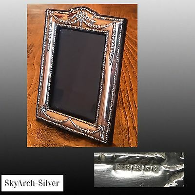 """Solid Silver~Picture Frame~Photo Frame~Hallmarked London 1990~8"""" X 5.5""""~"""