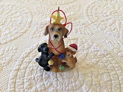 Dog and Puppies Christmas Ornament