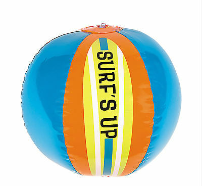 0712c15d8 Surf s Up Beach Balls 6pc inflatable pool LUAU PARTY Kid s birthday favors
