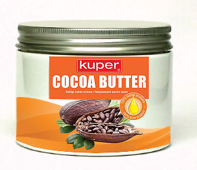 Cocoa Butter 100% Pure Raw Organic Unrefined Cold Pressed Cocoa Butter - 500g