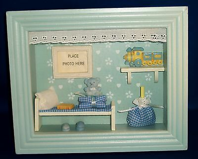 Baby Boys Nursery Room Picture Box Frame. Add A Photo