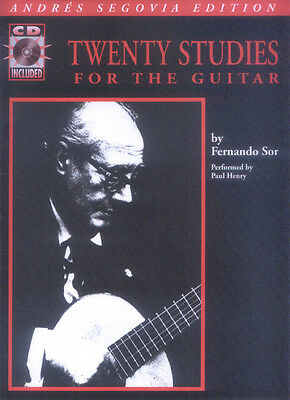 Fernando Sor Twenty 20 Studies for the Guitar Noten für Gitarre mit CD
