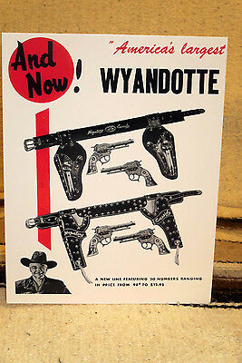 """Hopalong Cassidy """"America's Largest Wyandotte Ad Poster Tabletop Display Standee"""