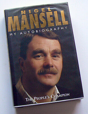 Nigel Mansell SIGNED People's Champion, Autobiography, HB 1995, full signature