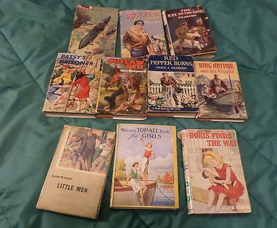 Lot of 10 Good, USED, Collectable Old Fiction Books