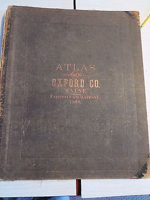 Atlas of Oxford County, Maine   Halfpenny & Caldwell  of Boston, 1880--Complete