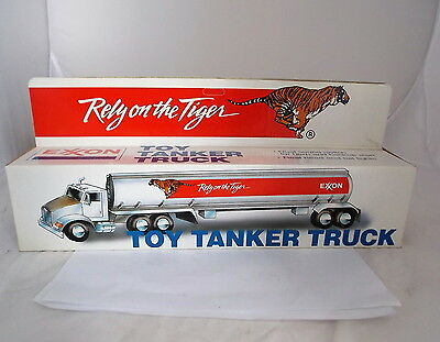 Exxon 1992 Toy Tanker Truck Rely on the Tiger w/ Lights & Sound NIB Collectible