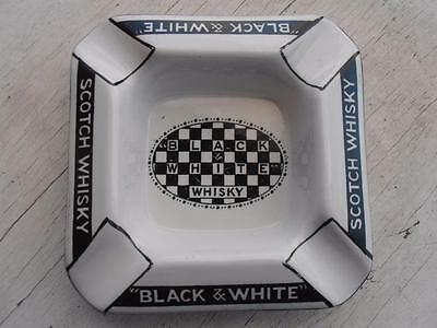 Vintage Buchannan's Black & White Scotch Whisky Chequered Ashtray Shelley Eng.