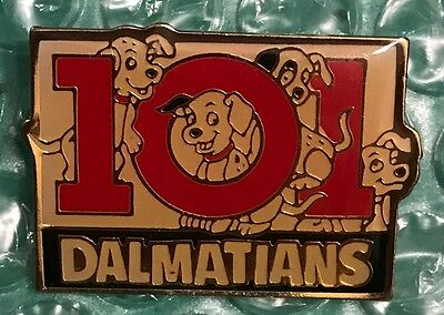 Disney 101 Dalmatians Sign with 4 Puppies Pin