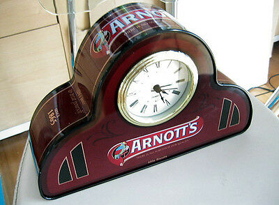 Collectable Arnotts Biscuit Tin Can Mantle Quartz Clock . Circa 2010 Sydney