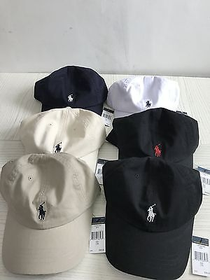 One Size R Lauren  New Polo Cap Baseball Strap Sun Pony  Hat Adjustable