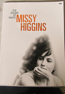 MISSY HIGGINS - The Sound of White - Sheet Music Song Book Piano, Vocal, Guitar
