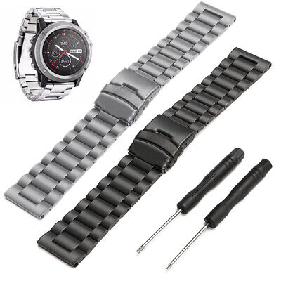 Stainless Steel Wrist Strap Smart Watch Band For Garmin Fenix 3 /HR + Tools