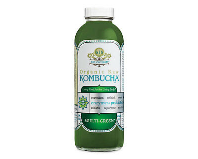 GTs Enlightened Synergy Organic and Raw Kombucha Multi-Green, 16.2 oz - 12/case