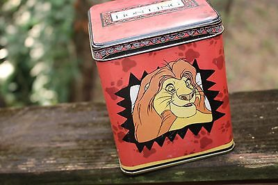 Vintage LION KING square colorful collectable tin by Applause