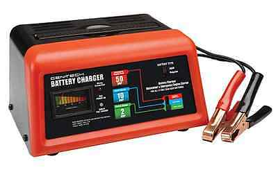 CEN TECH 10/2/50 Amp 12V Manual Car Battery Charger With Engine Start