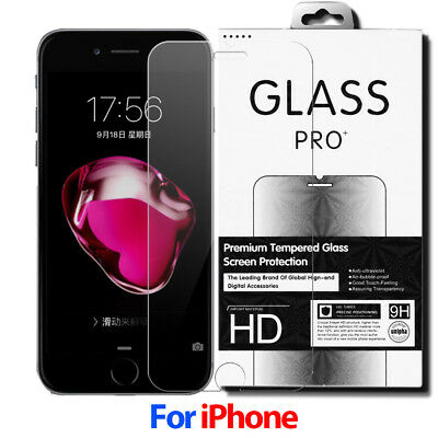 9H Tempered Glass Film Screen Protector For iPhone 8 7 6 6s Plus 5S 5 4S 4 SE