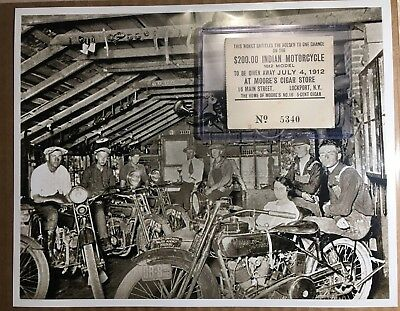 1912 Indian Motorcycle Cigar Store Lottery Ticket New York 4th Of July