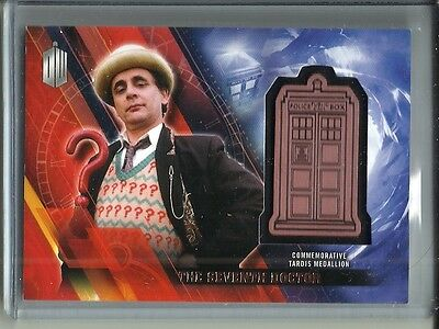 The Seventh Doctor 2016 Topps Doctor Who Commemorative Tardis Medallion #149/150