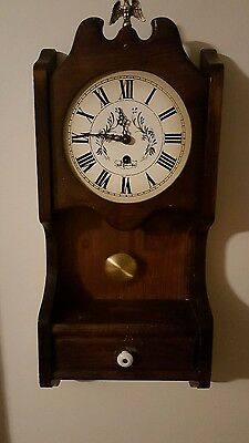 Rare Vintage Wuersch Wall Clock with Key and Pendulum