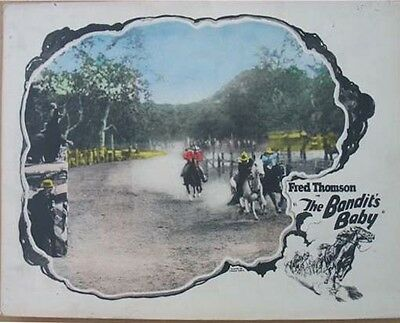 Lobby Card - Western -  Fred Thomson- The Bandit's Baby – 1926.