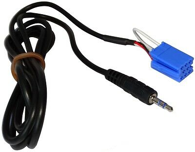Adaptador cable AUX mini ISO Jack 3.5mm para SMART Fortwo Forfour 450