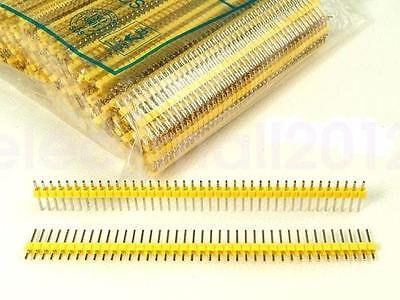 10PCS 40Pin 1x40P Male 2.54mm Breakable Pin Header Strip 40P Yellow Color