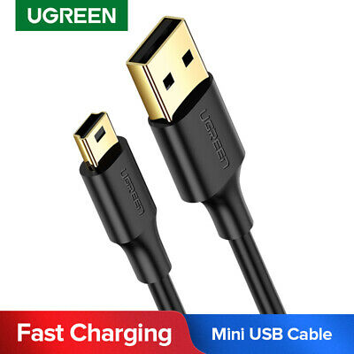 UGREEN USB 2.0 to Mini USB Mini-B 5 Pin Data Charging Cable Adapter DS PC CAMERA