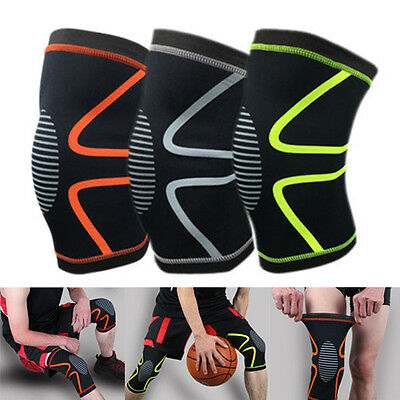 Knee Compression Sleeve Support for Running Gym Work Sports Joint Pain Relief