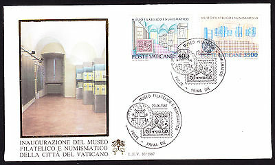 Vatican Inauguaration of Philatelic Museum set on First Day Cover FDC FDI 1987