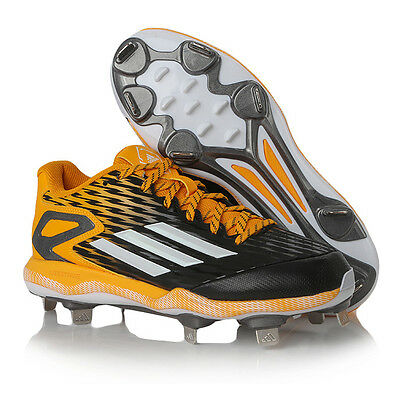 Adidas Men's Power Alley 3 Metal Baseball Cleats Yellow/Black S84764
