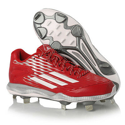 Adidas Men's Power Alley 3 Metal Baseball Cleats Red S84760