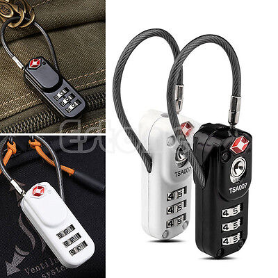 Resettable TSA 3-Digit Combination Travel Luggage Suitcase Safety Lock Padlock