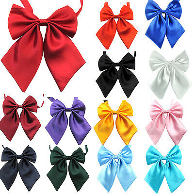 Commercial Bow Tie Butterfly Cravat Silk Bowtie Solid Color Marriage Bow Ties