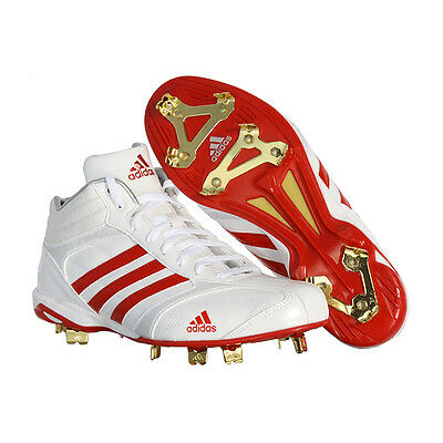Adidas Men's adiSTART IC 2 Mid Metal Baseball Cleats Red/White G56643