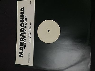 "Marradonna - Break My Heart (One Step Music OSM1) 12"", W/Lbl, S/Sided, Ltd G+"