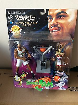Space Jam Warner Bros Charles Barkley Wile E. Coyote Sealed Figure Looney Tunes