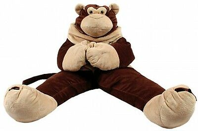 SnooZzoo Monkey Kids Children Sleeping Bag - Brown, w/ Large Stuffed Animal