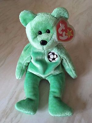 Genuine Ty Beanie Baby Kicks Retired Tag Errors Collectable