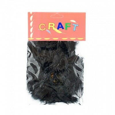 Bag 50 Black Hen Feathers For Cards Or Crafts