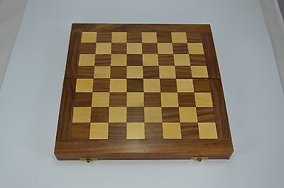 """16 """" X 16"""" Folding Wooden Big Chess Set Game Board with Safety Box Handmade"""