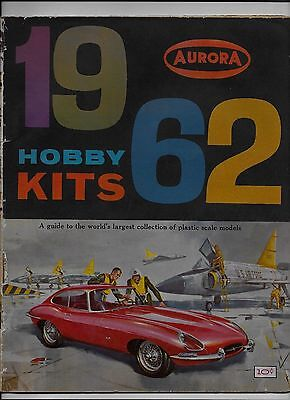 Aurora 1962 Hobby Kits Catalog Plastic Scale Models